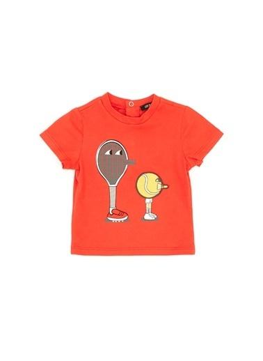 BG Baby Erkek Bebek Nar Çiçeği T-Shirt Mercan